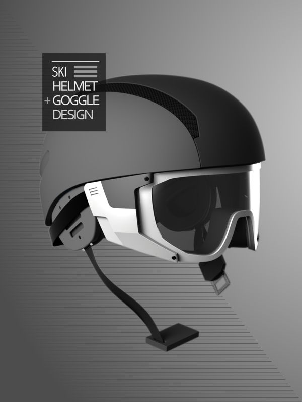 "Ski Helmet + Goggle by Hsuan-Tsun""Shawn"" Wang, via Behance"