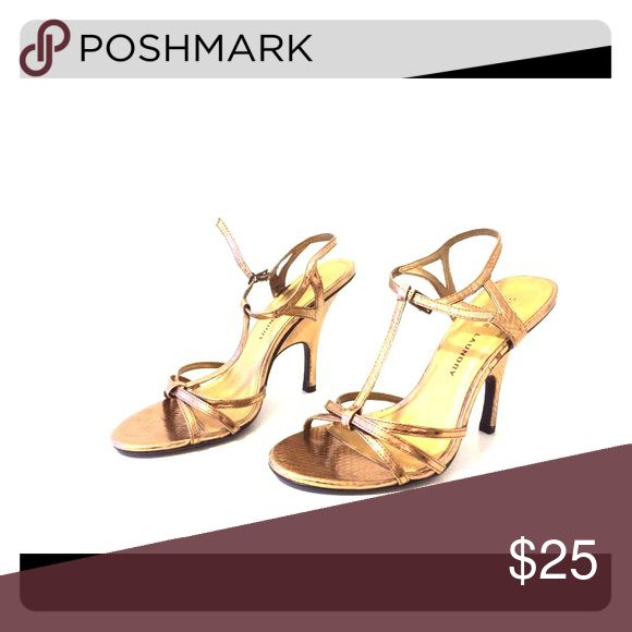 CL Gold Strap Heels Sexy strappy Chinese Laundry heels. Perfect for dressing up any outfit. Chinese Laundry Shoes Heels