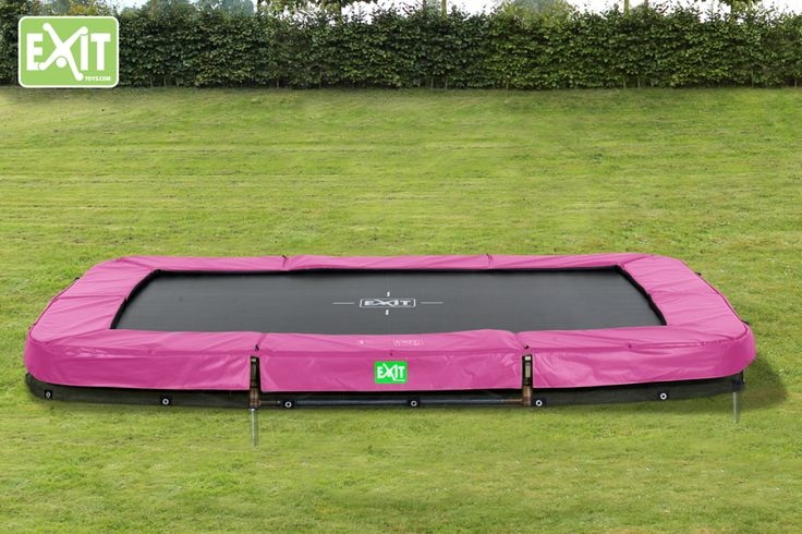 Kinder-Trampolin EXIT Bodentrampolin Twist Ground eckig 214x305cm Farbe pink/grau Der Rand des Trampolins Twist ist umkehrbar. Im Bild ist die Farbe pink/grau zu sehen. Zusätzlich mit Spielabdruck auf der Sprungmatte - Erfinden Sie immer wieder neue Spiele