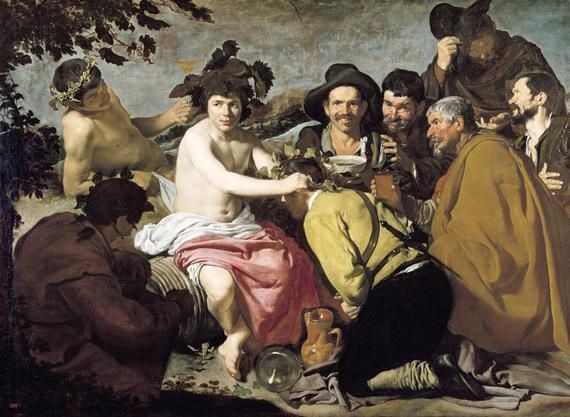 Triumph of Bacchus, or the Drinkers (1628-9)   Diego Velazquez.  Art Experience NYC  www.artexperiencenyc.com/social_login/?utm_source=pinterest_medium=pins_content=pinterest_pins_campaign=pinterest_initial