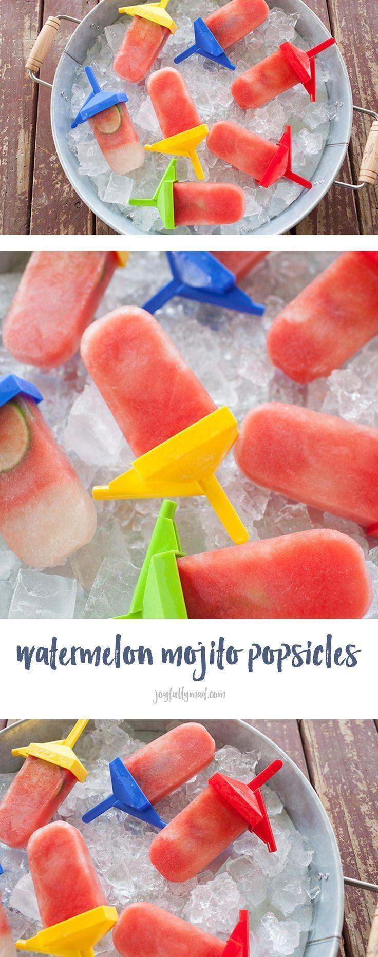 Wassermelonen Mojito Eis Am Stiel Stiel Wassermelonenmojitoeis Wassermelone Mojito Meloneneis