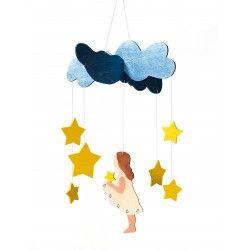 ♡Ostheimer Mobiel vallende sterren♡  Mobiel van hout, met vallende sterren. ~Ostheimer~