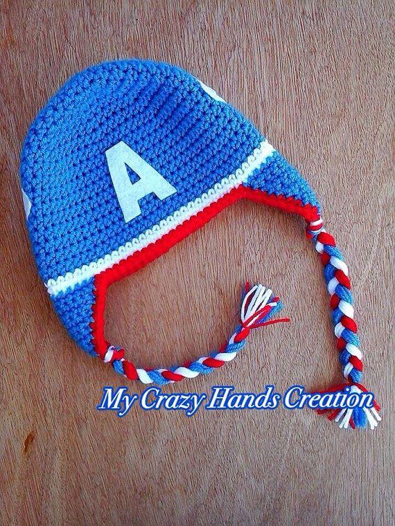 Capitan America | Gorro de crochet niños | Pinterest | America and ...