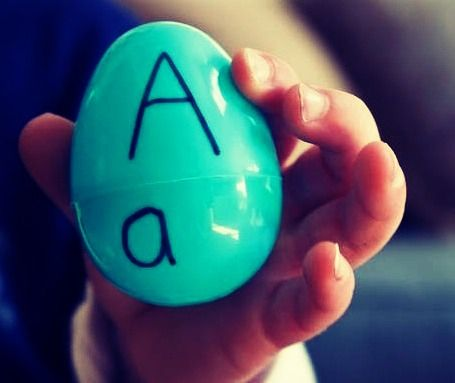 Use Left Over Plastic Easter Eggs To Teach Toddlers Letter Matches