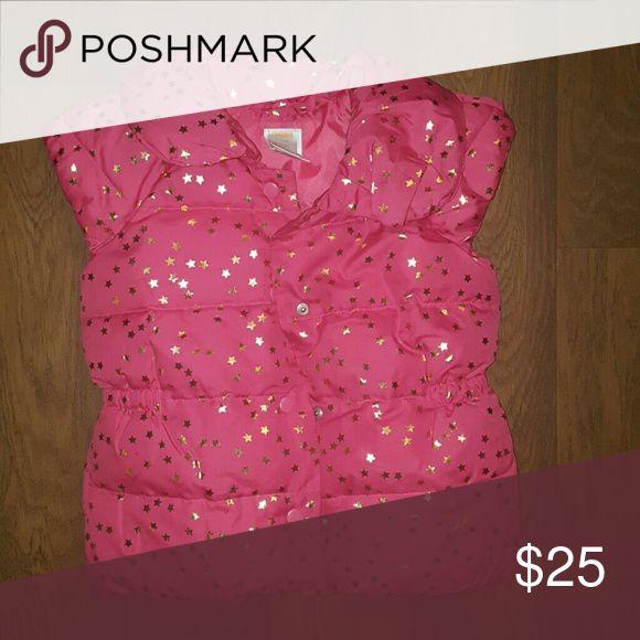 Pink Vest Like new gold stars and pink vest Gymboree Jackets & Coats Vests