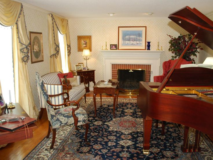 Grand Piano Traditional Living Rooms Room Dining