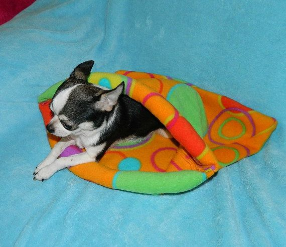 Cuddle Sack for Dogs, puppies, kittens and Cats - size small up to 6 pounds and size medium up to 12