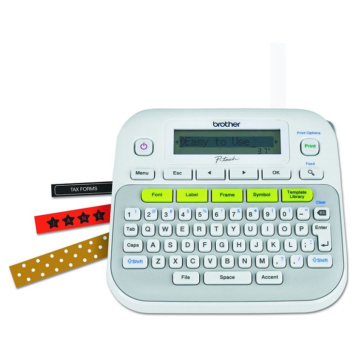 Label Everything!! Brother Label Maker is 75% off! Number of stars: 4.4 out of 5. One-touch keys — Quick access to fonts, frames, symbols and more Graphical display – See how your label will look before you print Many ways to personalize – 14 fonts, 95 frames, and more than 600 symbols Useful templates – …
