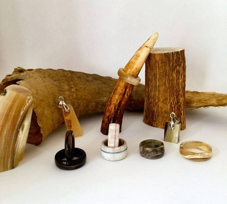 raw natural materials turned into jewelry