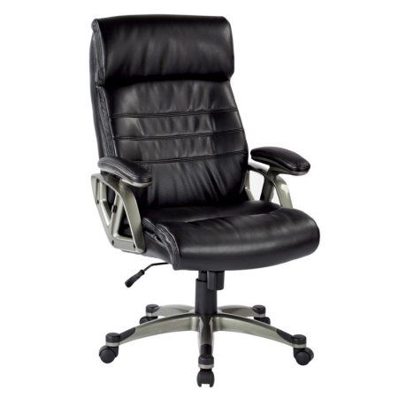 Office Star Executive Bonded Leather Chair with Adjustable Padded Arms, Multiple Colors, Beige