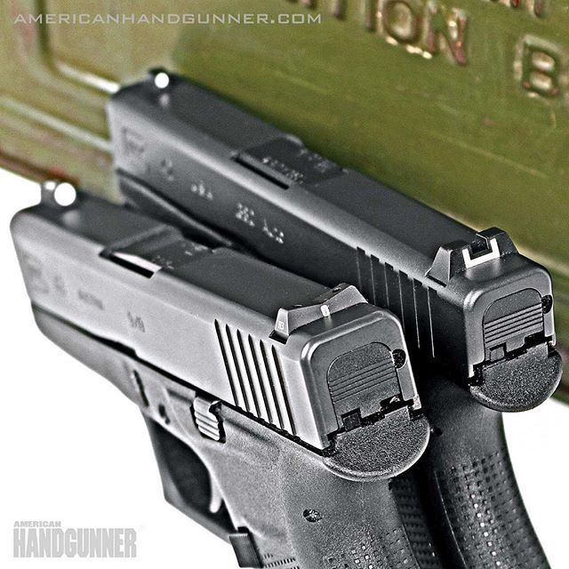 Nuclear-Powered sighting systems. The glowing tritium night sights from XS Sights make finding your target when things go bump in the night, a bit easier. Read more from the March/April issue of American Handgunner by following our profile link. ---------