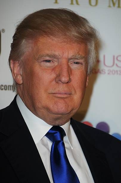 Donald Trump arrives at the 2013 Miss USA pageant at Planet Hollywood Resort Casino on June 16 2013 in Las Vegas Nevada