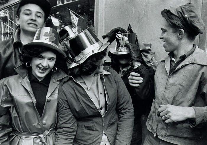 St Patrick's Day Parade, New York, 1955. William Klein.