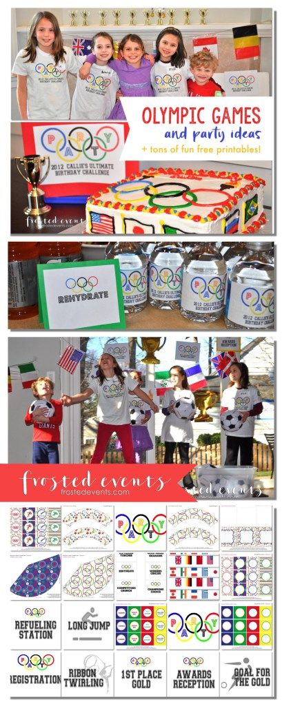 Olympic Games for Kids and Olympic Party Ideas + tons of free printables for kids activities, teachers and classroom crafts