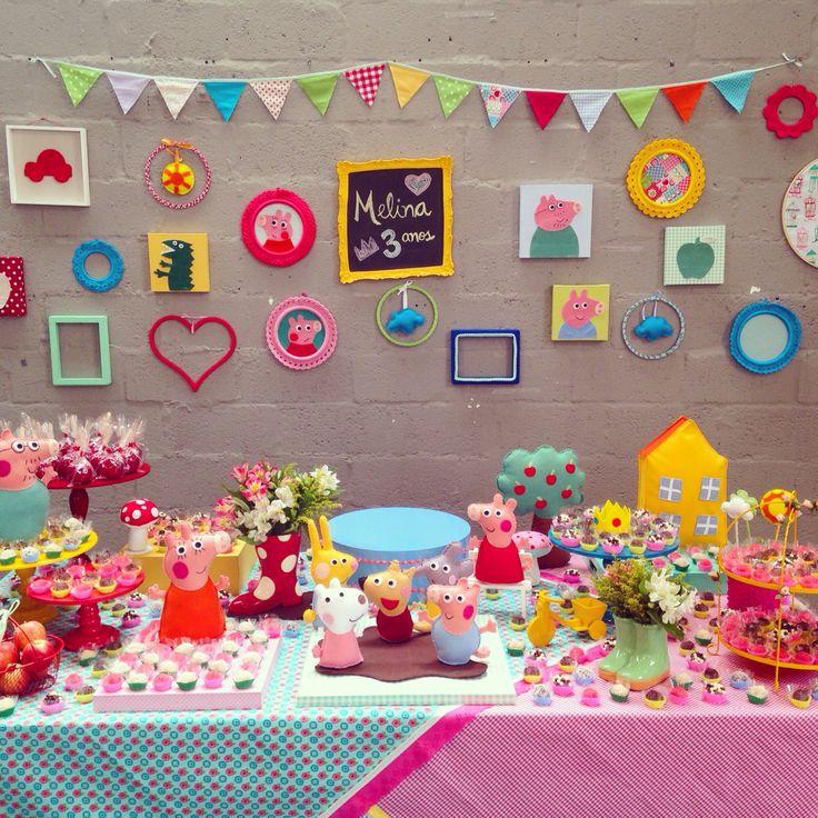 Festa Peppa Pig - decoração mini mimo festas