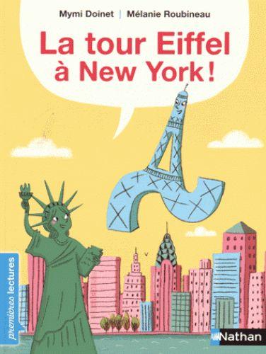 La statue de la Liberté invite la tour Eiffel à New York. Vive les vacances au milieu des gratte-ciel !