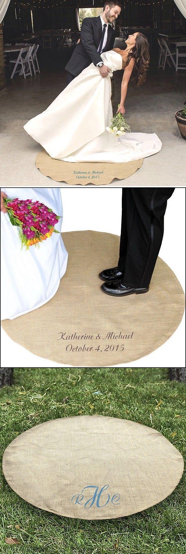 custom printed keepsake jute wedding vows rug