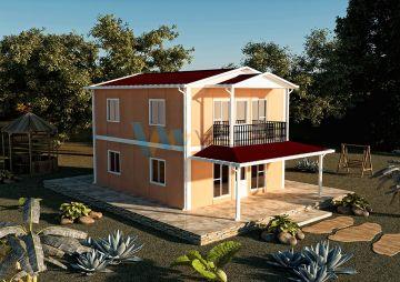 122 m² Çift Katlı Prefabrik Ev