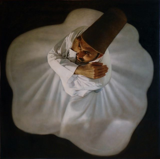 A beautiful photo of a whirling Dervish.