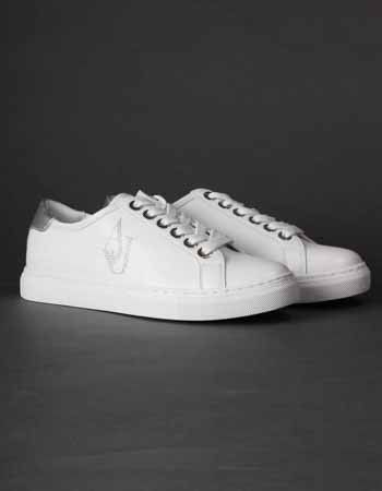 Armani Jeans White AJ Crystal Sneakers | Accent Clothing
