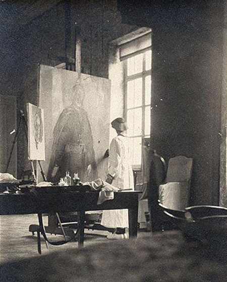 Cecilia Beaux at work, circa 1919
