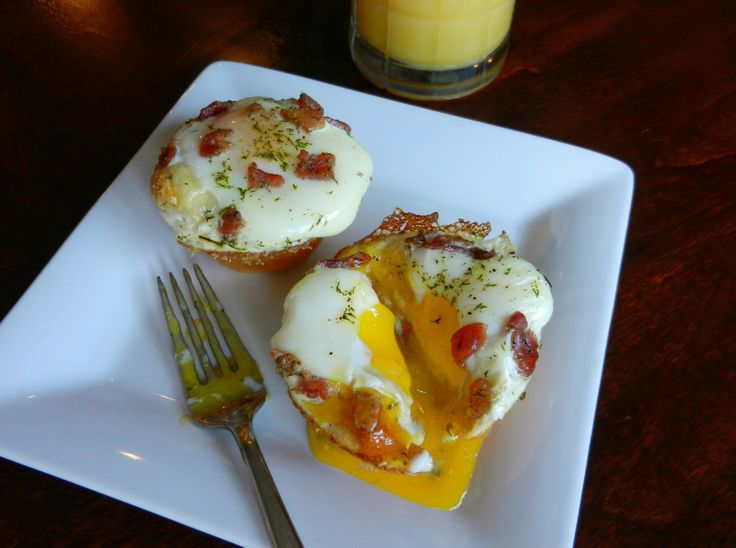 Original Pin: Biscuit Baked Eggs My Notes: I scrambled the eggs and it ...