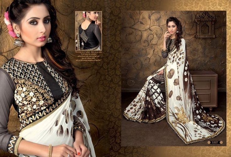 """""""Sarees for 2499/-"""" Pls call/whatsapp +919600639563. Code: saf scgray Price: 2250/- Material: Georgette saree with designer blouse. For booking and further details pls call or whatsapp us at +919600639563. Happy shopping y'all :) Be Beautiful :)"""