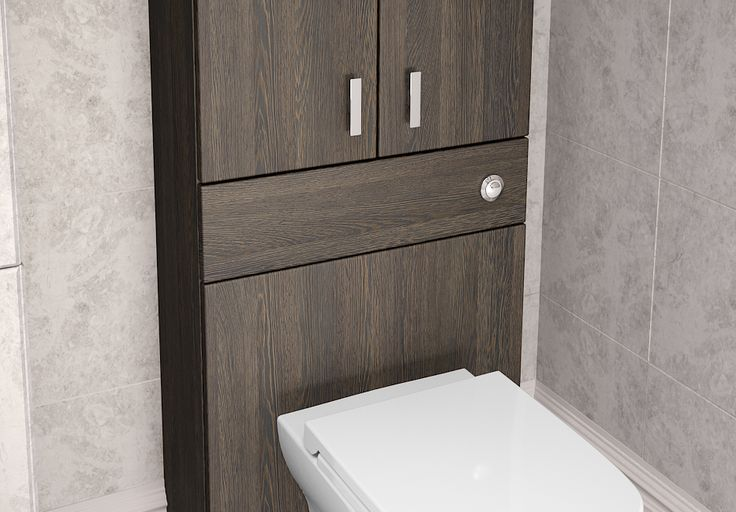 Mali Oak Modular Bathroom Furniture - Mid toilet units provide handy storage and look chic and stylish.