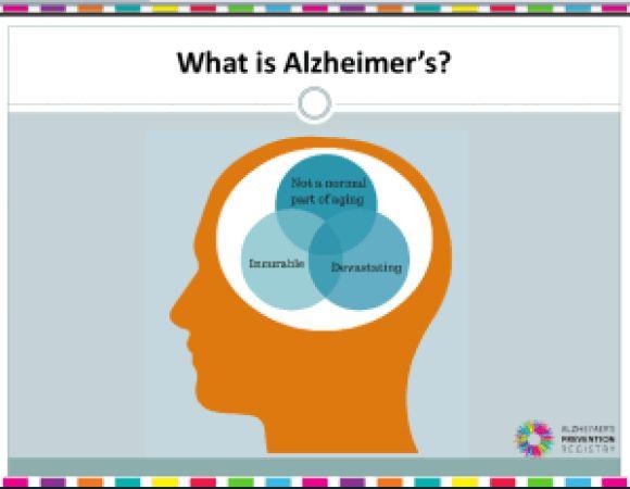 Photo courtesy of Alzheimer's Prevention Registry