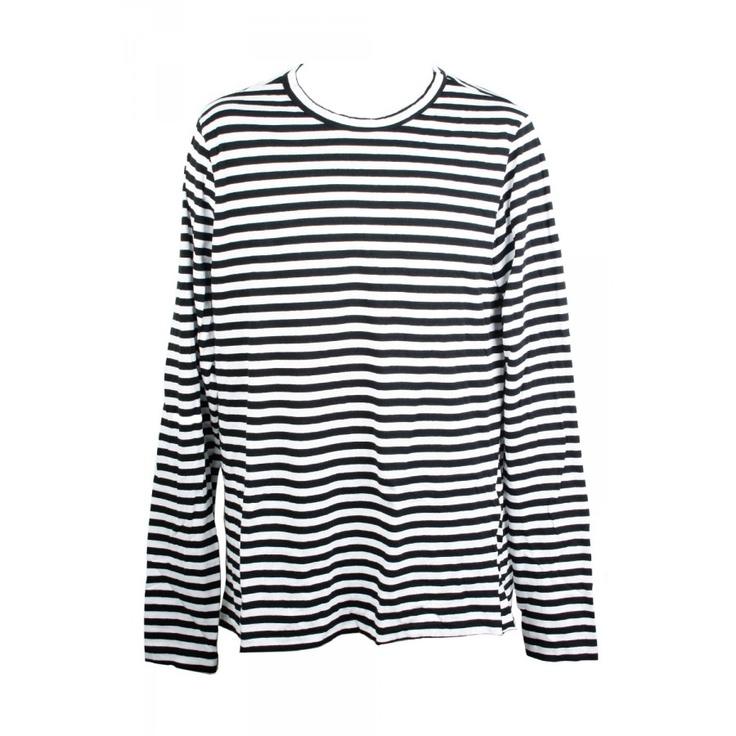 $179 bassike mens heritage regular crew neck / black and white stripe / s-xl #superettegetthelook