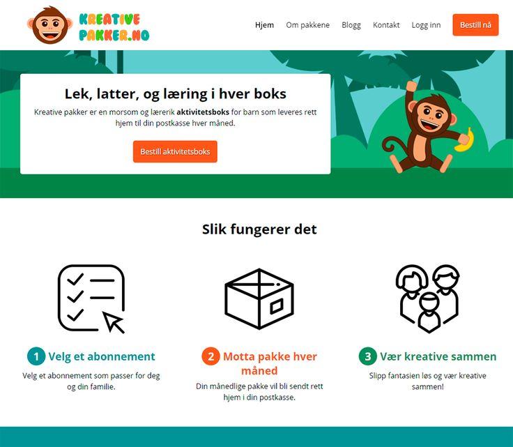 Nettbutikk for Kreative Pakker. Designet og utviklet av Nettrakett AS