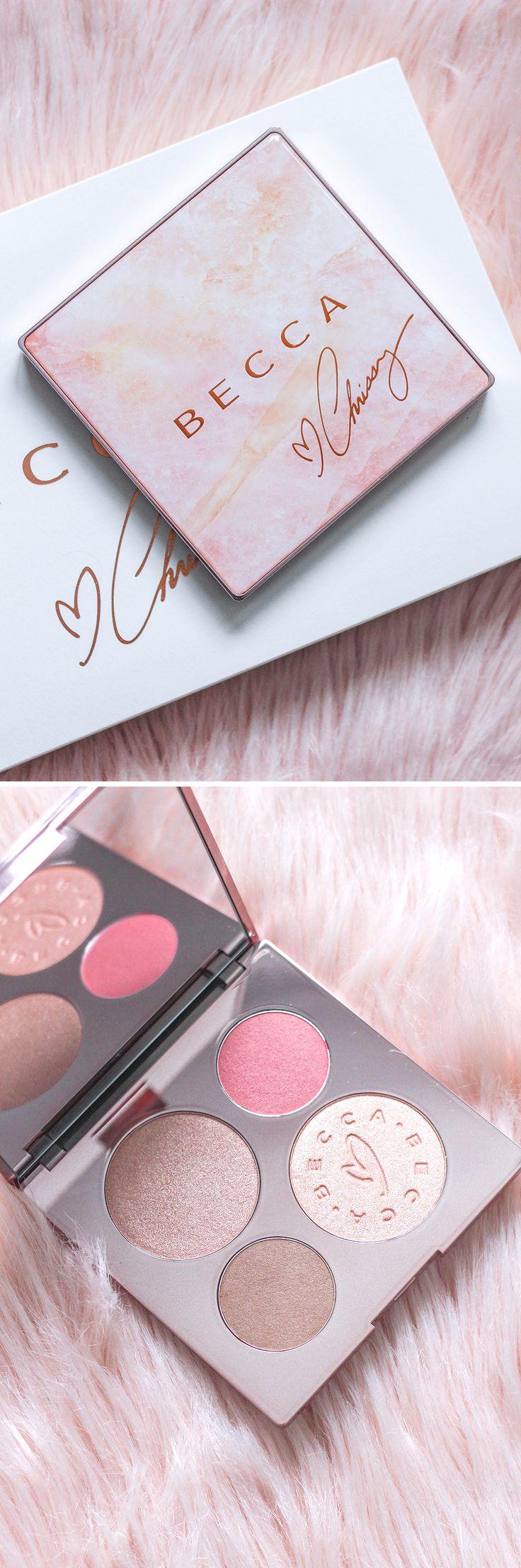 Becca Chrissy Teigen Palette Review | Becca x Chrissy Teigen Glow Face Palette | Makeup Review (Favorite Lipstick Posts)