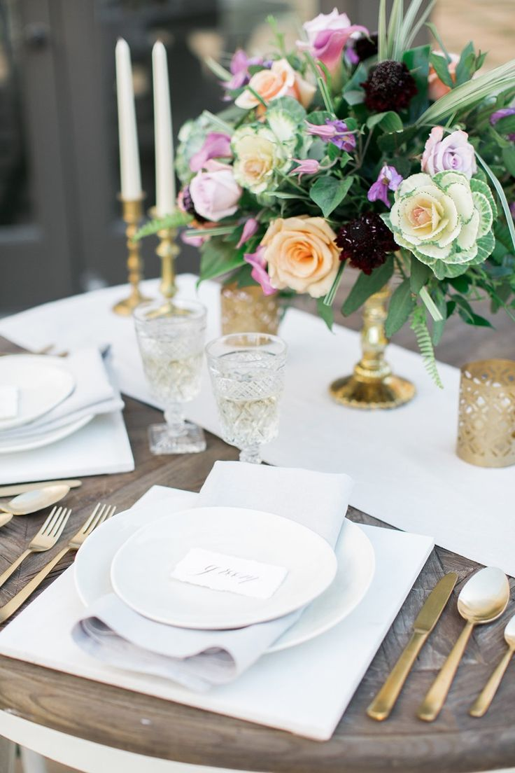 Romantic Vintage Wedding Place Setting