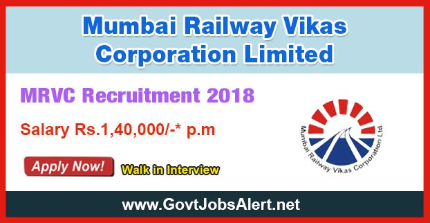 MRVC Recruitment 2018 - Hiring Project Engineers Posts, Salary Rs.1,40,000/- : Apply Now !!!  The Mumbai Railway Vikas Corporation Limited – MRVC Recruitment 2018 has released an official employment notification inviting interested and eligible candidates to apply for the positions of Project Engineers in Civil Engineering, Electrical Engineering and Electronics & Telecommunication. The eligible candidates may apply online through the official website or in the official A