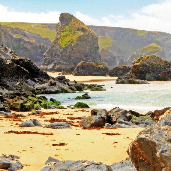 Pentire Steps Beach, Near Newquay, Cornwall