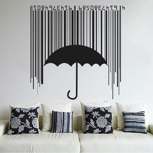 cool modern bedroom wall art ideas   17 Best images about Abstract Wall Decals on Pinterest ...