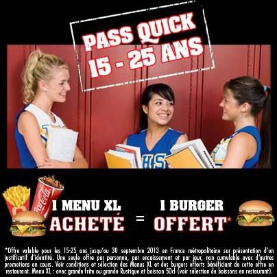 pass quick 15 - 25 ans