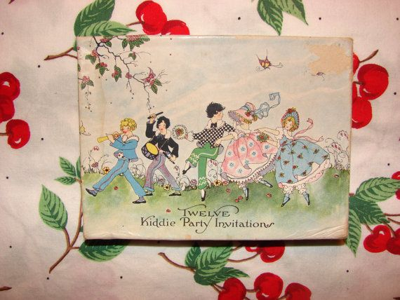 Children's Party Invitations from the 192030's by BudandLouVintage, $42.00