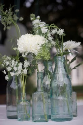 center pieces, I'm definitely drawn toward white and green!