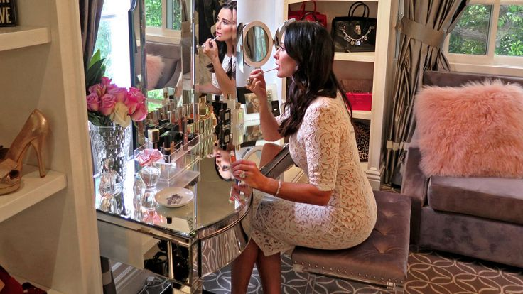 """Kyle Richards feels less guilty when she thinks of her new space as a """"dressing room"""" instead of a """"closet."""""""