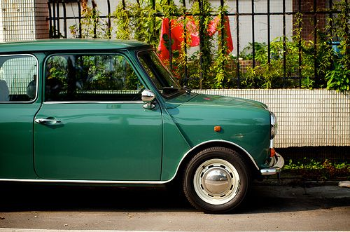 The old green Mini - my first car
