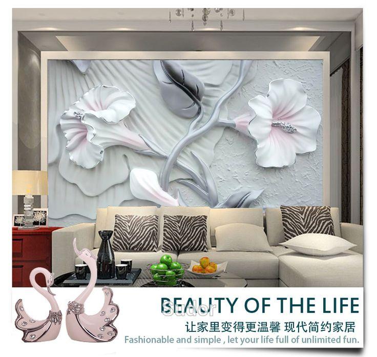 Stereoskopische 3d wallpapertelevision wand Reliefs lilie