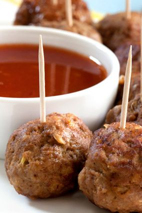 Yummy Meatball Appetizers from Oprah! #superbowl #party #berrycards