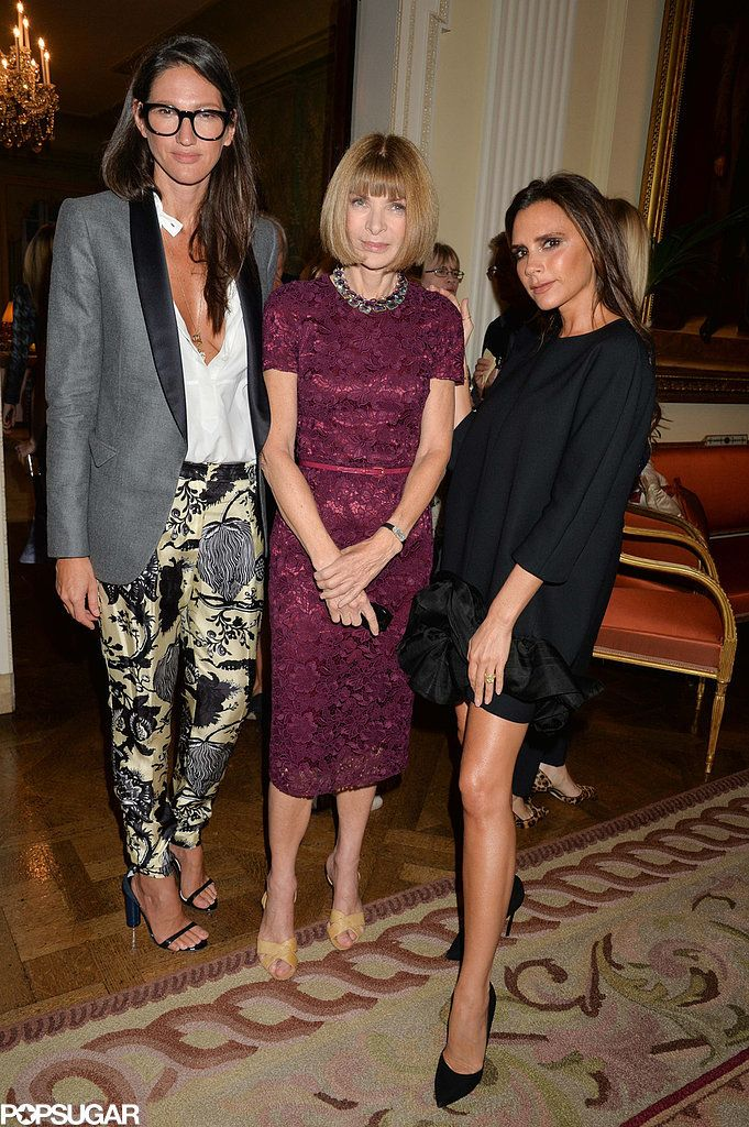Victoria Beckham hung out with Anna Wintour and Jenna Lyons at J Crew's London Fashion Week event at Winfield House in London.