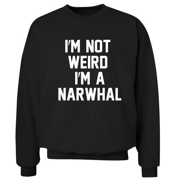 And this sweatshirt that just tells it like it is.   33 Things Every Narwhal Lover Needs In Their Home