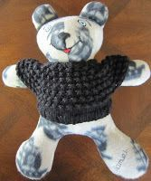 """Large (16"""") Teddy Bear Sweater Knit Pattern  Material: For Large Teddy 16"""";  1.5 oz. 4 ply yarn """" Double pointed"""" or/and ..."""