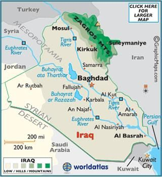 south asia iraq iraq mapbaghdad iraqcentral