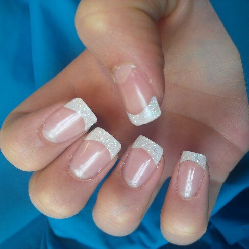 Sparkle Tips On French Tip Gel Nails Nails Toes Pinterest Gel Nails Nails And Sparkle