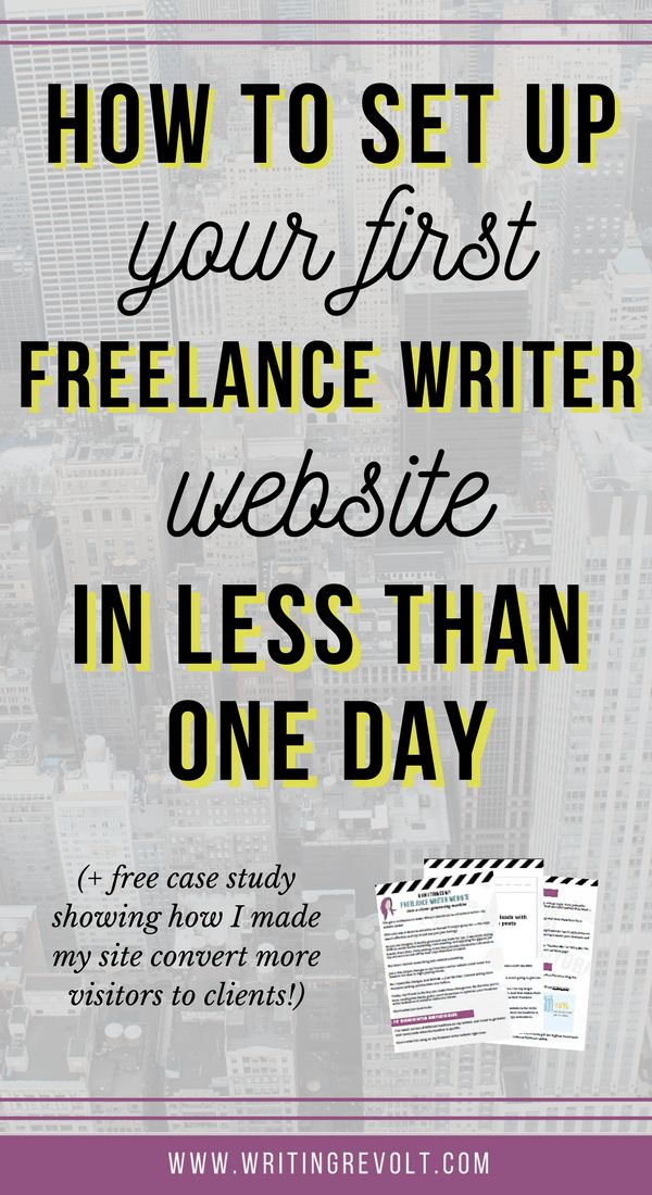 Wanted freelance writing portfolio website