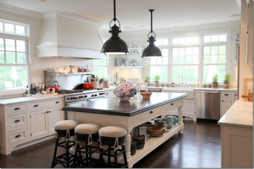 love this spaceDreams Kitchens, Lights Fixtures, Hoods, Cote De Texas, Windows, House, Open Kitchens, Big Islands, White Kitchens